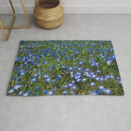Forest Floor Blues Rug