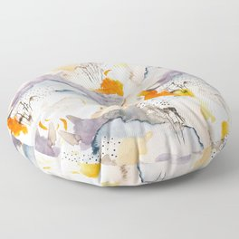 marmalade mountains Floor Pillow