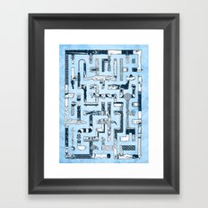 Which Way To The Bathroom? Framed Art Print