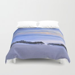 Monsul beach at sunset Duvet Cover