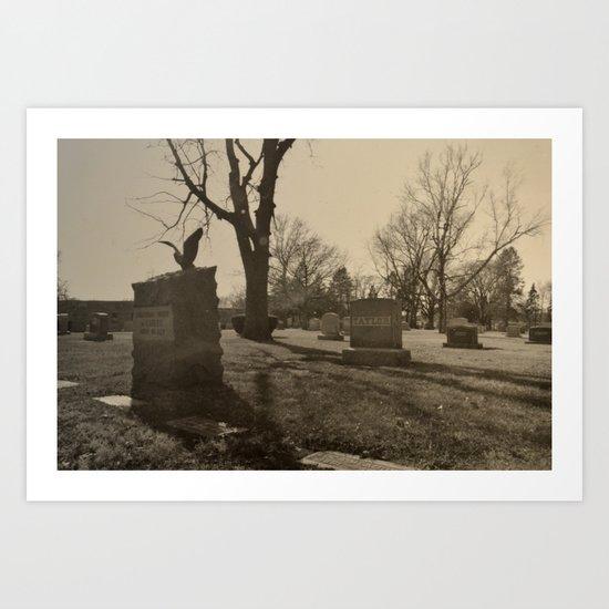 Cemetery Art Print