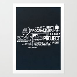 Programmer: Typography Programming 2 Art Print