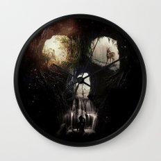 Cave Skull Wall Clock