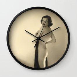 Vintage Digital Pinup Painting Wall Clock