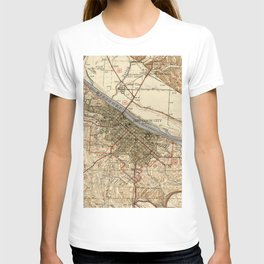 Vintage Map of Jefferson City MO (1939) T-shirt
