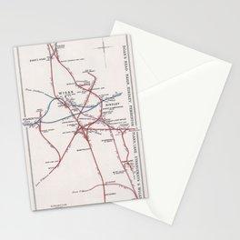 Railway Junction Diagram (1914) 077 - Wigan, Boar's Head, Hindley, Pemberton Stationery Cards