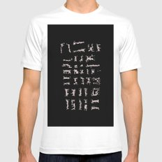 Inverted city 2 MEDIUM Mens Fitted Tee White