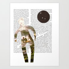 Media Landscape Walkers 2 Art Print
