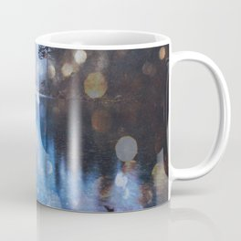 Magical Blue Forest Water Reflection - Nature Photography Coffee Mug