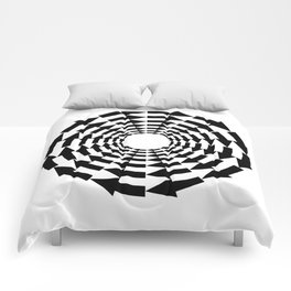 Arrows in a circle Comforters