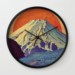 The Red Sunrise at Dayai Shore Wall Clock