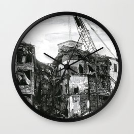 Demolition of a Department Store Wall Clock