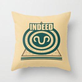 Indeed Throw Pillow