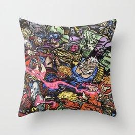 90's Comics Glump Throw Pillow