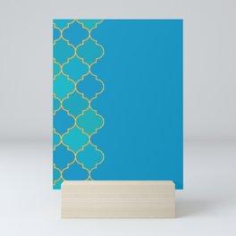 turquoise pond Mini Art Print
