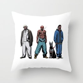 Legendary Rappers Throw Pillow