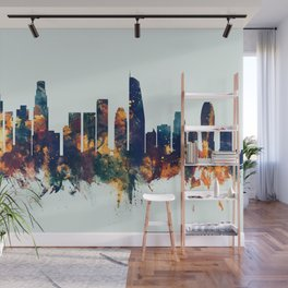 Los Angeles California Skyline Wall Mural