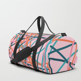 Colored Line Chaos #8 Duffle Bag