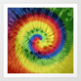 Boho Spiral Tie Dye Pattern Art Print