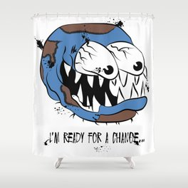 I'm Ready for a Change: Climate Change Illustration Shower Curtain