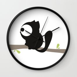 Tree cat Wall Clock