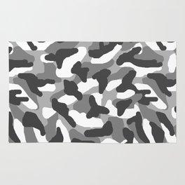Grey Gray Camo Camouflage Rug