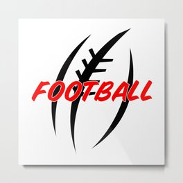 American Football USA Player Sports Game Gift Idea Metal Print
