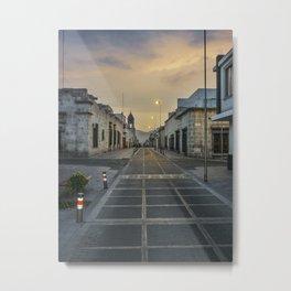 Deserted Street in Arequipa Peru Metal Print