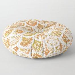 AZTEC MERMAID Golden Tribal Scales Floor Pillow