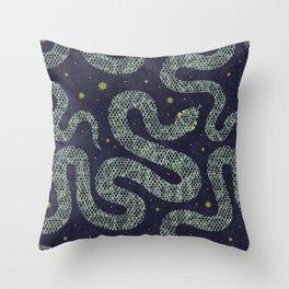Space Serpent Throw Pillow