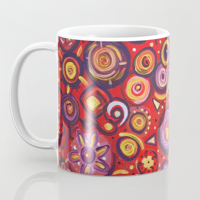 Red Square Abstract Painting Coffee Mug