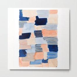 salmon & blue Metal Print