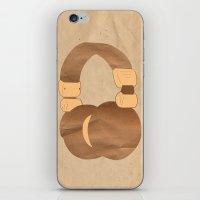 headphones iPhone & iPod Skins featuring Headphones by MelRae