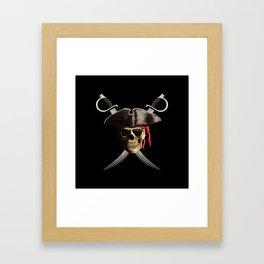 Pirate Skull And Swords Framed Art Print