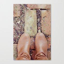 Winter Boots Canvas Print