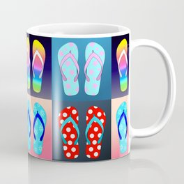 Flip Flop Pop Art Coffee Mug