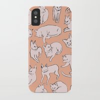 picasso iPhone & iPod Cases featuring Picasso Cats by leah reena goren