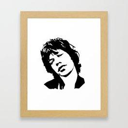 ROCK N ROLL ARTIST Framed Art Print