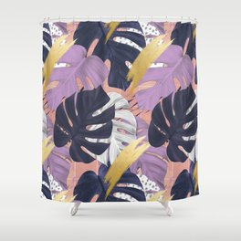 monstera mood Shower Curtain