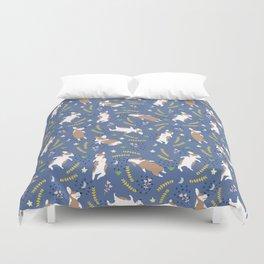 Sleeping Corgi pattern #3 Duvet Cover