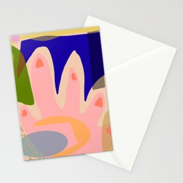 Shapes and Layers No.5 - Modernist abstract hand and shapes Stationery Cards