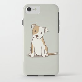 Staffordshire Bull Terrier Dog Illustration iPhone Case