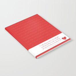 Words of love Notebook
