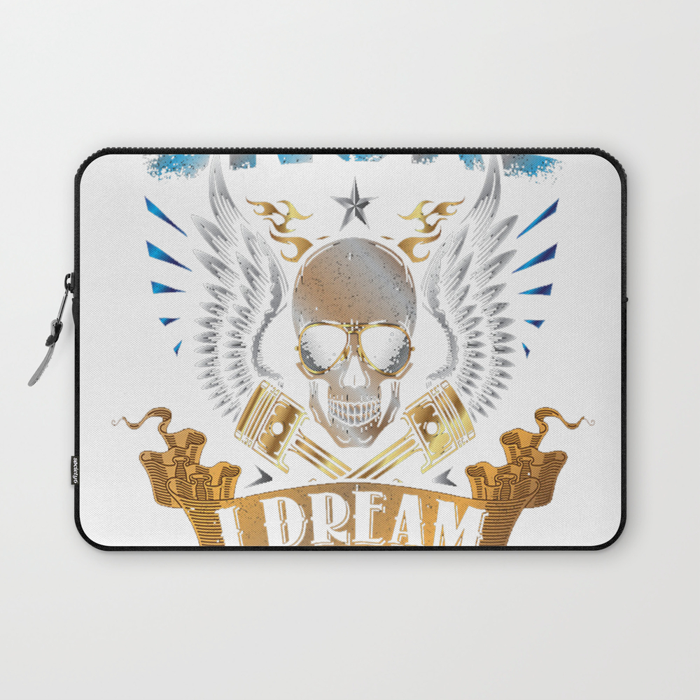 I Don't Snore I Dream I'm A Motorcycle Funny Quote Laptop Sleeve LSV9201650