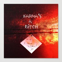 karma Canvas Prints featuring Karma by Veronica Ventress