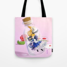 Alice in a bottle (drink me) Tote Bag