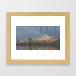 Misty Hill Framed Art Print