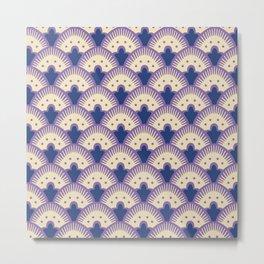 Fan Pattern Lavender and Blue 991 Metal Print