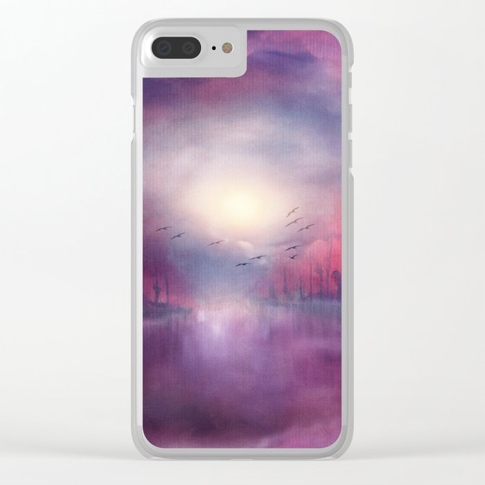 Calling The Sun XVIII Clear iPhone Case