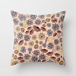 flowersketch Throw Pillow